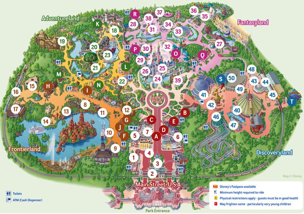 mappa disneyland paris park