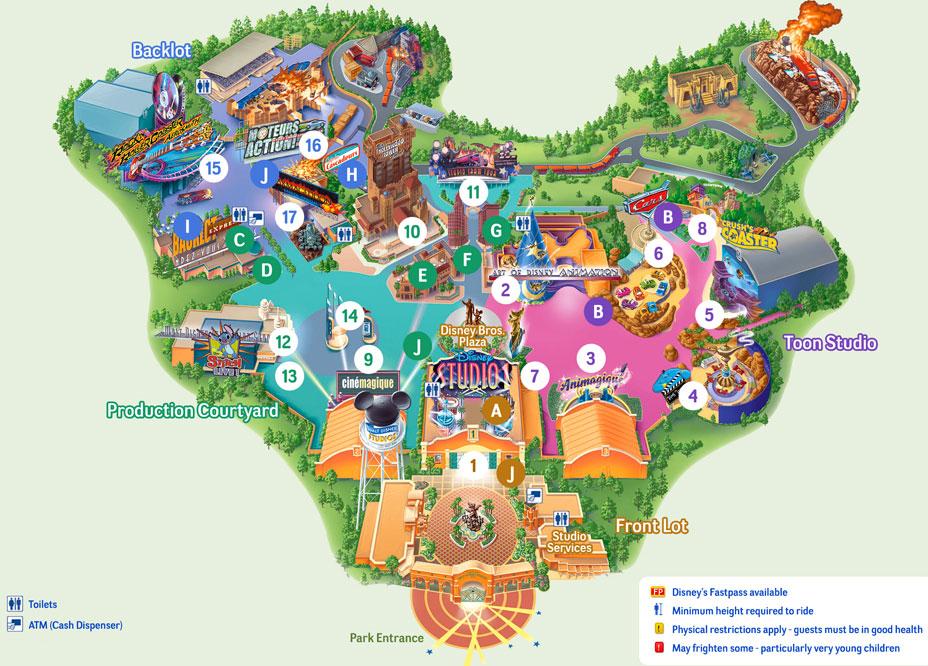 mappa disneyland paris walt disney studios